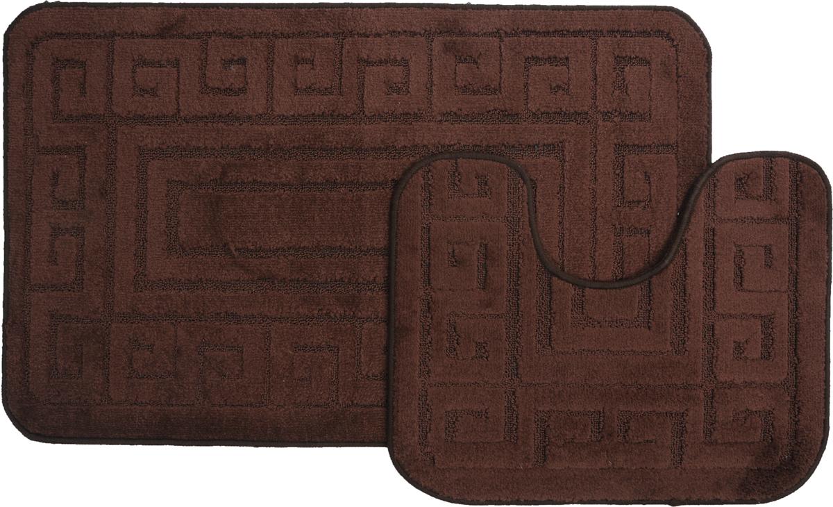 Набор ковриков для ванной MAC Carpet Рома. Версаче, цвет: темно-коричневый, 60 х 100 см, 50 х 60 см, 2 шт21875Набор MAC Carpet Рома. Версаче, выполненный из полипропилена, состоит из двух ковриков для ванной комнаты, один из которых имеет вырез под унитаз. Противоскользящее основание изготовлено из термопластичной резины. Коврики мягкие и приятные на ощупь, отлично впитывают влагу и быстро сохнут. Высокая износостойкость ковриков и стойкость цвета позволит вам наслаждаться покупкой долгие годы. Можно стирать вручную или в стиральной машине на деликатном режиме при температуре 30°С.