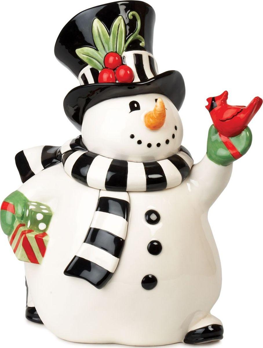 Банка для печенья Fitz and Floyd Веселый снеговик, высота 30 см, 2,1 л19-628Рекомендуется бережная ручная мойка с использованием безабразивных моющих средств.