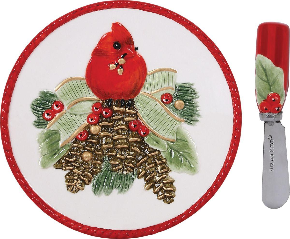 Набор для торта Fitz and Floyd Новогодняя сказка, 2 предмета49-366Рекомендуется бережная ручная мойка с использованием безабразивных моющих средств.