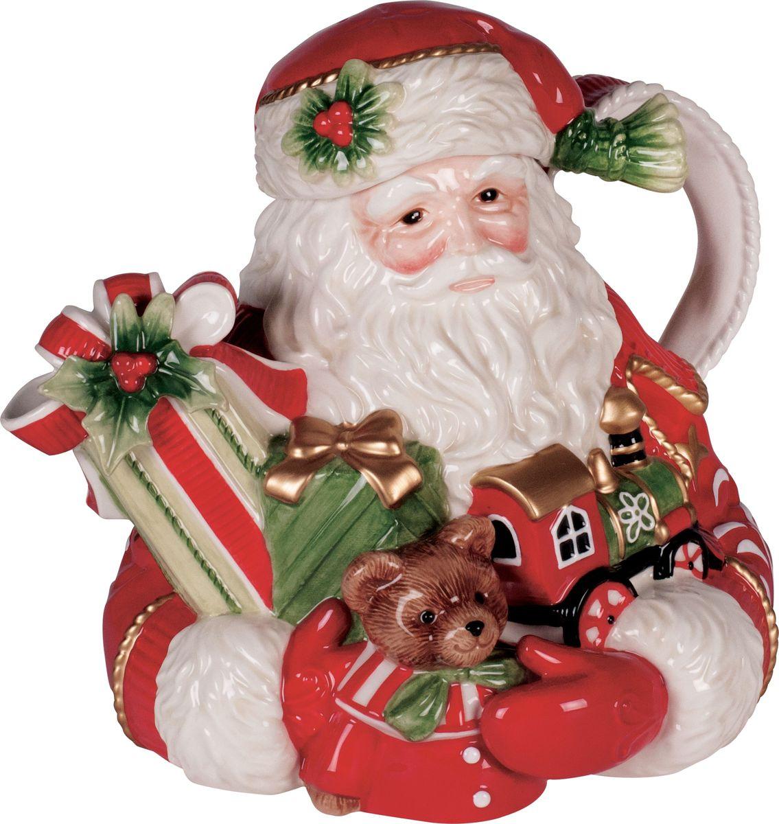 Чайник Fitz and Floyd Рождественская звезда, 1,5 л49-373Рекомендуется бережная ручная мойка с использованием безабразивных моющих средств.
