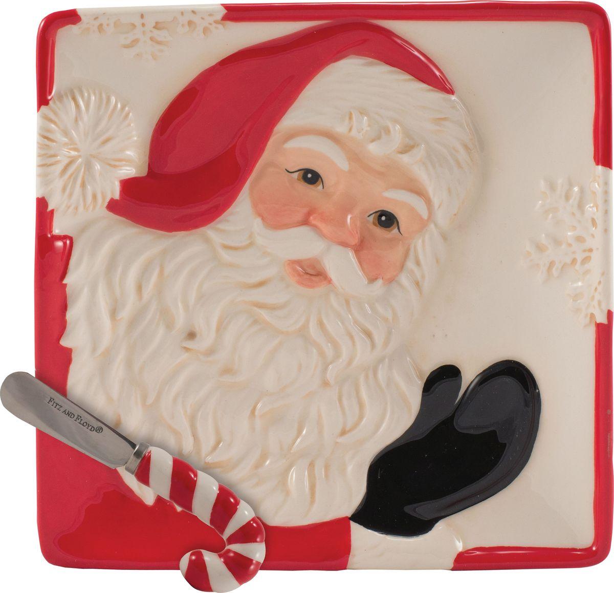 Набор для торта Fitz and Floyd Письмо Деду Морозу, 2 предмета49-415Рекомендуется бережная ручная мойка с использованием безабразивных моющих средств.