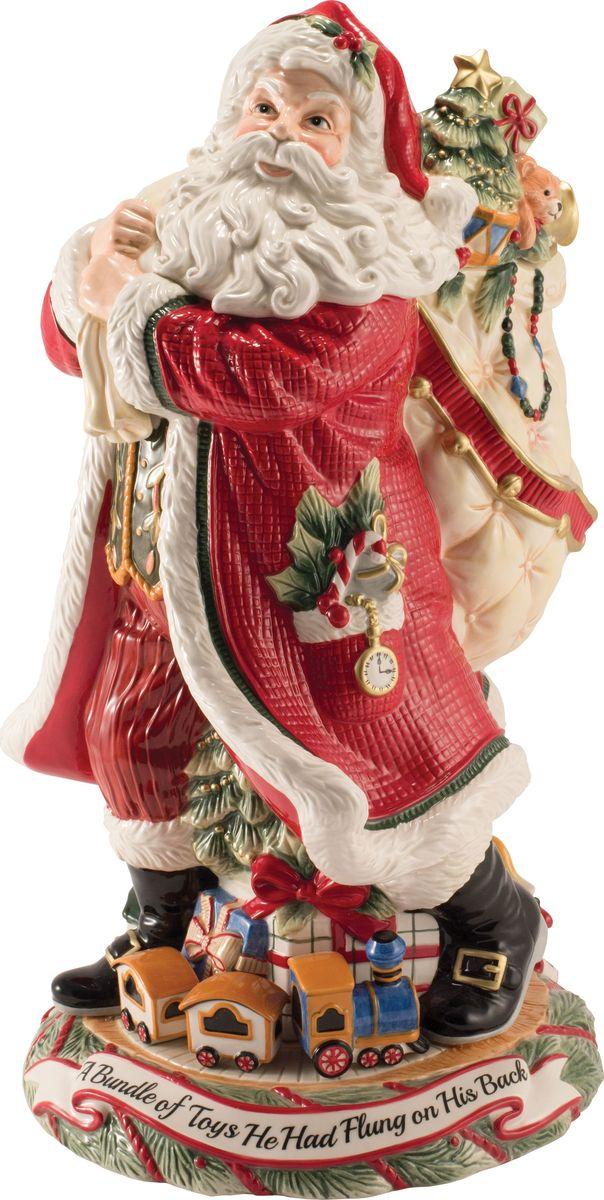 Ваза Fitz and Floyd Ночь перед Рождеством. Дед Мороз, высота 42 см, 4 л49-421Рекомендуется бережная ручная мойка с использованием безабразивных моющих средств.