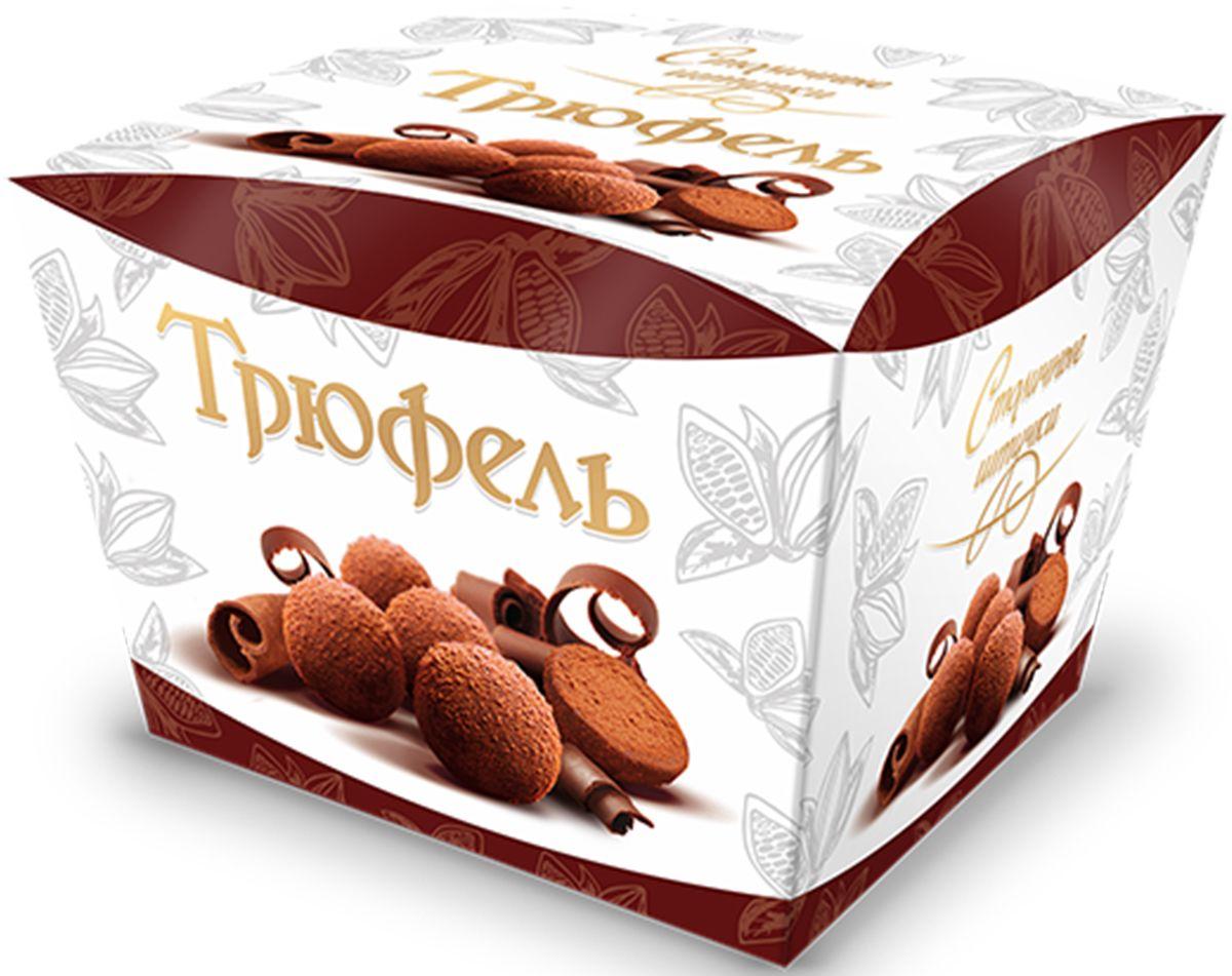 Столичные штучки Трюфель драже, 150 г1865Гармоничное сочетание тающей во рту шоколадно-трюфельной массы, покрытой тончайшим слоем темного шоколада с посыпкой натуральным какао.