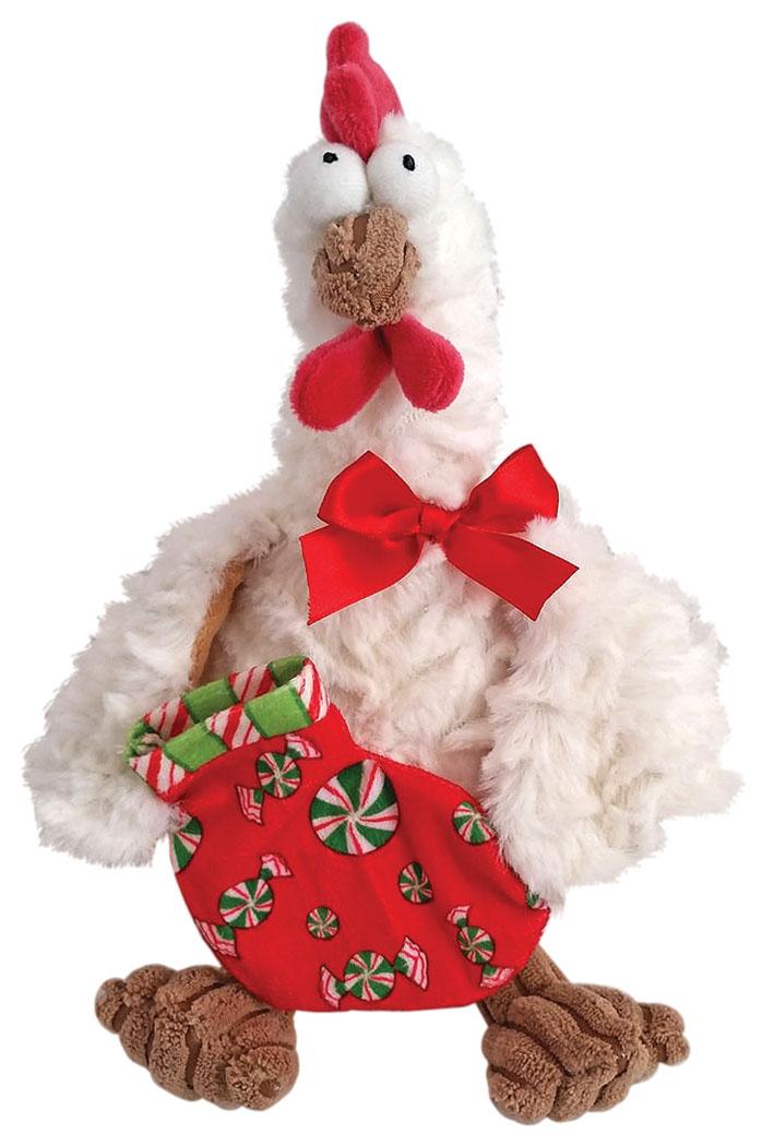 Fluffy Family Мягкая игрушка Петух новогодний цвет белый