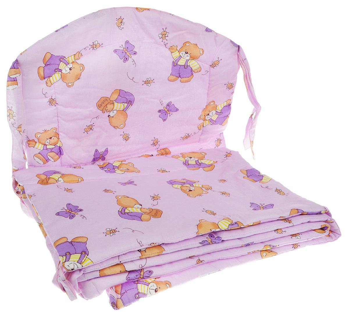 Фея Борт комбинированный 405 Мишка цвет сиреневый1045_сиреневыйКомбинированный бортик в кроватку Фея Мишка выполнен из высококачественных материалов. Бортик крепится к кроватке с помощью специальных завязок, благодаря чему его можно поместить в любую детскую кроватку. Он защитит малыша от сквозняков, а когда ребенок подрастет и начнет вставать - от ударов при возможных падениях. Малыш с удовольствием будет разглядывать забавные рисунки. Красочный бортик в кроватку выполняет эстетическую функцию, делая внешний вид кроватки еще прекраснее. Бортик обеспечит изолированность и уют внутри кроватки для малыша во время его отдыха.