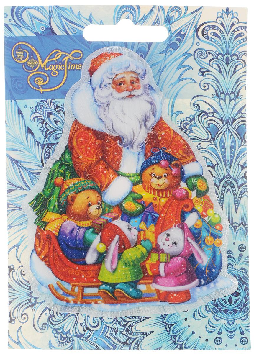 Украшение новогоднее Magic Time Новогоднее настроение, со светодиодной подсветкой, 11 x 10 x 3 см42197Оригинальное новогоднее украшение Magic Time Новогоднее настроение выполнено из ПВХ. С помощью специальной вакуумной присоски украшение можно прикрепить почти на любую плоскую поверхность. Светодиодная подсветка создаст атмосферу волшебства и ощущение праздника. Такой сувенир оформит ваш интерьер в преддверии Нового года и создаст атмосферу уюта. Размер: 11 x 10 x 3 см; Элемент питания: LR44; Мощность: 0,06 Вт; Напряжение: 3 В.