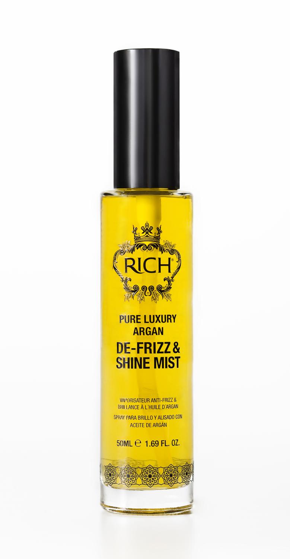 Rich Спрей-вуаль на основе арганового масла , придающий блеск и гладкость, 50 мл150273Мягкий спрей на основе арганового масла мгновенно проникает в структуру волоса, увлажняет, делает волосы мягкими блестящими и послушными. Защищает от воздействия горячего воздуха при укладке и воздействия UV лучей.