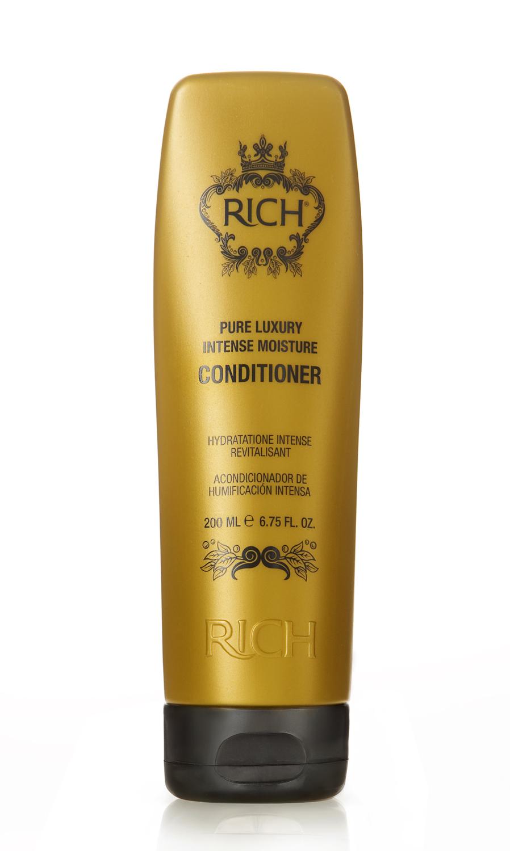 Rich Интенсивный увлажняющий кондиционер, 200 мл150501Кондиционер для ежедневного применения. Придает волосам блеск и ухоженный вид, уменьшает наэлектризованность волос, придает волосам гдадкость. Защищает от агрессивного воздействия горячего воздуха при укладке, от негативного воздействия UV лучей