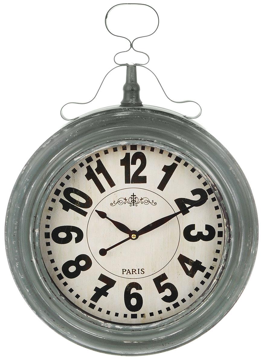 Часы настенные Gardman Henlein, цвет: серый, белый, черный17902Кварцевые настенные часы Gardman Henlein выполнены из металла с состаренным порошковым покрытием. Такие часы подходят для использования как в помещении, так и на улице. Часы оформлены арабскими цифрами и имеют две стрелки - часовую и минутную. Часы Gardman Henlein станут замечательным дизайнерским решением для декора сада, дачи или гостиной дома. Работают от 1 батарейки типа AA (в комплект не входит). Диаметр циферблата: 29 см.