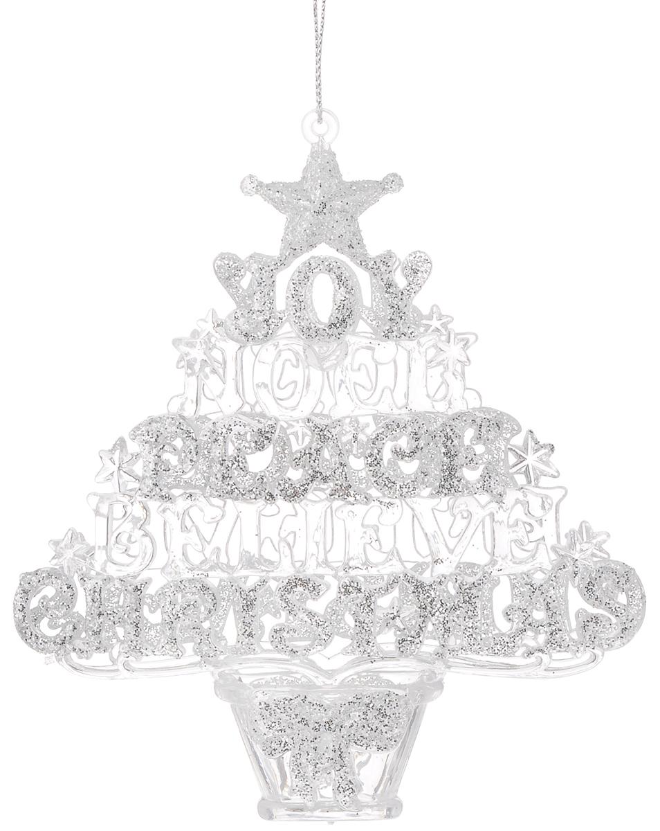 Украшение новогоднее подвесное Magic Time Рождественская елочка, высота: 13,3 см38594Оригинальное новогоднее украшение Рождественская елочка выполнено из прочного материала. С помощью специальной петли украшение можно подвесить в любом понравившемся вам месте. Но, конечно же, удачнее всего такая игрушка будет смотреться на праздничной елке. Новогодние украшения приносят в дом волшебство и ощущение праздника. Создайте в своем доме атмосферу веселья и радости, украшая всей семьей новогоднюю елку нарядными игрушками, которые будут из года в год накапливать теплоту воспоминаний. Материал: полистирол. Размер (высота): 13,3 см.