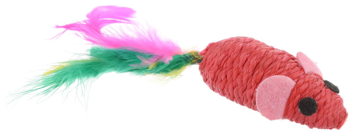 Игрушка для животных Каскад Когтеточка-мышь, с перьями, цвет: красный, розовый, черный, длина 5,5 см27754647Мягкая игрушка для животных Каскад Когтеточка-мышь изготовлена из текстиля, пластика, фетра и перьев. Такая игрушка порадует вашего любимца, а вам доставит массу приятных эмоций, ведь наблюдать за игрой всегда интересно и приятно. Длина игрушки: 5,5 см. Длина игрушки с учетом перьев: 12 см.