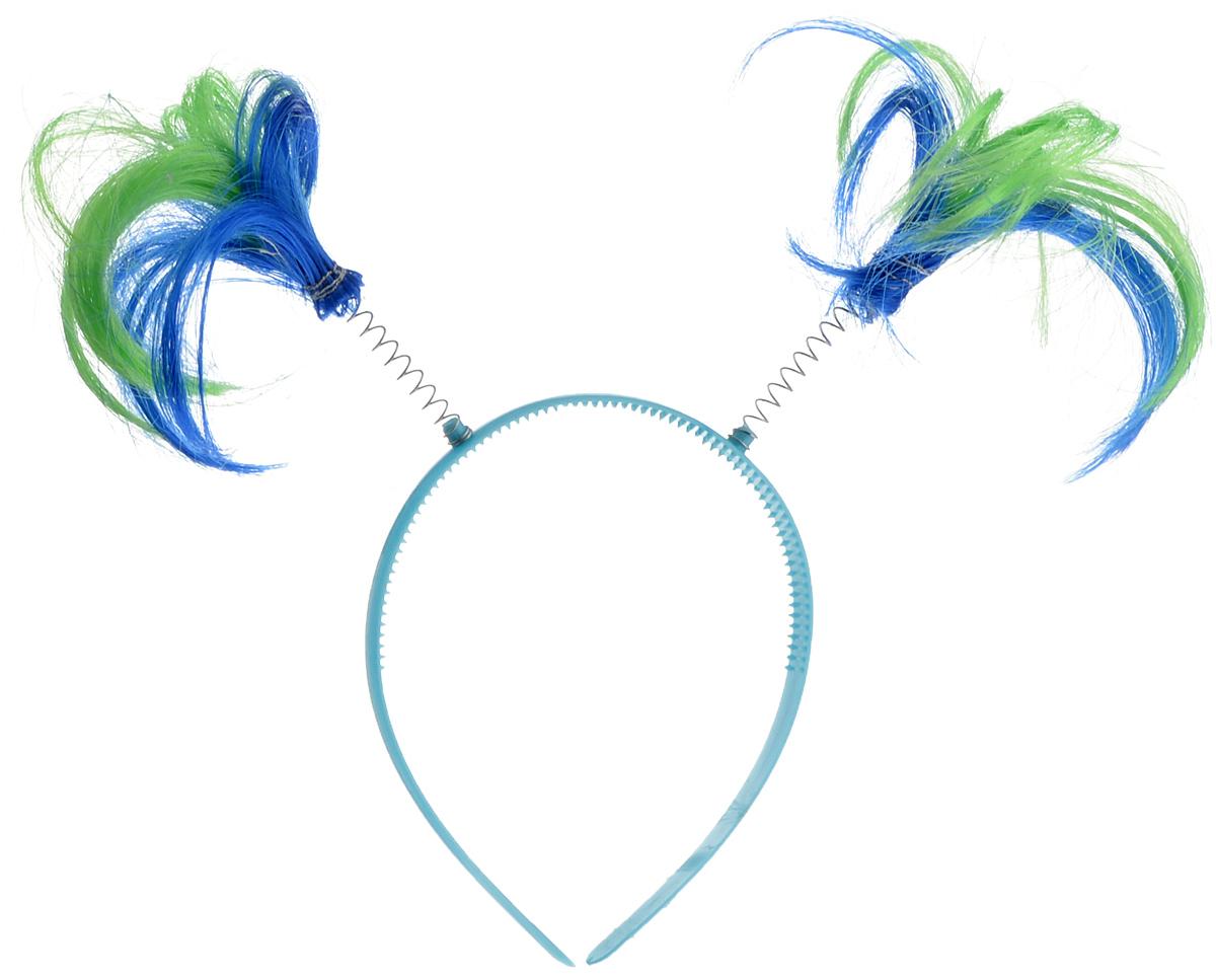 Ободок маскарадный Феникс-Презент Пеппи, цвет: голубой, синий, салатовый34605_голубой, синий, салатовыйМаскарадный ободок Феникс-Презент Пеппи выполнен из пластика и дополнен хвостиками из полиэстера на металлических пружинах. Ободок имеет универсальный размер. Если у вас намечается веселая вечеринка или маскарад, то такой аксессуар легко поможет создать праздничный наряд. Внесите нотку задора и веселья в ваш праздник. Веселое настроение и масса положительных эмоций вам будут обеспечены! Высота хвостика: 15 см.