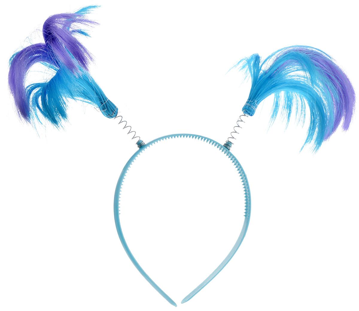 Ободок маскарадный Феникс-Презент Пеппи, цвет: голубой, фиолетовый34605_голубой, фиолетовыйМаскарадный ободок Феникс-Презент Пеппи выполнен из пластика и дополнен хвостиками из полиэстера на металлических пружинах. Ободок имеет универсальный размер. Если у вас намечается веселая вечеринка или маскарад, то такой аксессуар легко поможет создать праздничный наряд. Внесите нотку задора и веселья в ваш праздник. Веселое настроение и масса положительных эмоций вам будут обеспечены! Высота хвостика: 15 см.