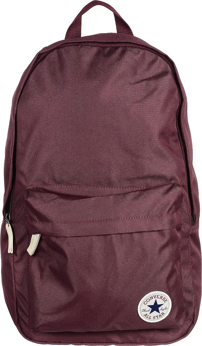 Рюкзак городской Converse Core Poly Backpack, цвет: бордовый. 1000265162510002651625Стильный рюкзак Converse Core Poly Backpack понравится вам с первого взгляда. Он выполнен из высококачественного плотного полиэстера и оформлен фирменной нашивкой. На лицевой стороне расположен удобный накладной карман на молнии. Внутри расположено главное вместительное отделение, которое закрывается на застежку-молнию. Также внутри находится отделение с уплотненной стенкой для ноутбука, закрывающееся хлястиком на застежку-липучку. Рюкзак оснащен удобными лямками регулируемой длины и ручкой для переноски в руке. Такой практичный рюкзак станет незаменимым аксессуаром в вашем гардеробе.