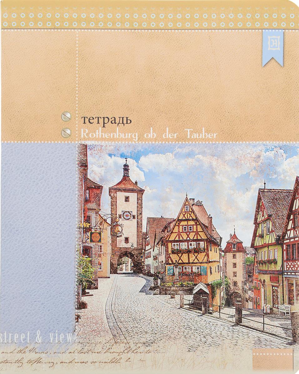 Феникс+ Тетрадь Rothenburg ob der Tauber 48 листов в клетку