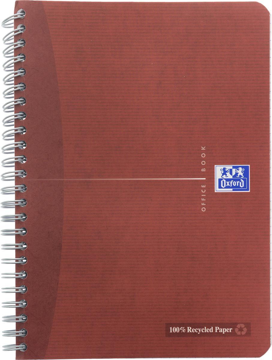 Oxford Тетрадь Эко 90 листов в клетку цвет красно-коричневый817835_красно-коричневыйКрасивая и практичная тетрадь Oxford Эко отлично подойдет для школьников, студентов и офисных служащих. Обложка тетради выполнена из плотного, но гибкого ламинированного картона с закругленными краями. Тетрадь формата А5 состоит из 90 белых листов на двойном гребне с линовкой в клетку без полей. Практичное и надежное крепление на гребне позволяет отрывать листы и полностью открывать тетрадь на столе. Тетрадь дополнена съемной закладкой-линейкой из гибкого пластика. Вне зависимости от профессии и рода деятельности у человека часто возникает потребность сделать какие-либо заметки. Именно поэтому всегда удобно иметь эту тетрадь под рукой, особенно если вы творческая личность и постоянно генерируете новые идеи.