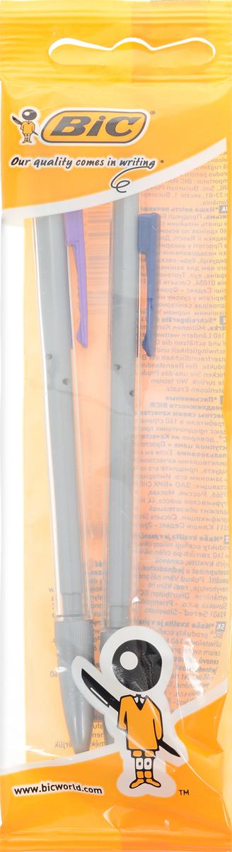 Bic Набор механических карандашей Matic 2 штB901773Набор механических карандашей Bic Matic будет вашим незаменимым помощников в школе, офисе и дома. Благодаря выдвижному пишущему узлу карандаши не пачкаются. Прорезиненный грип исключает скольжение пальцев во время письма, обеспечивая комфорт. Специальный ластик для графита встроен в кнопку каждого карандаша. В комплекте 2 чернографитовых карандаша с ластиком и удобным цветным зажимом.