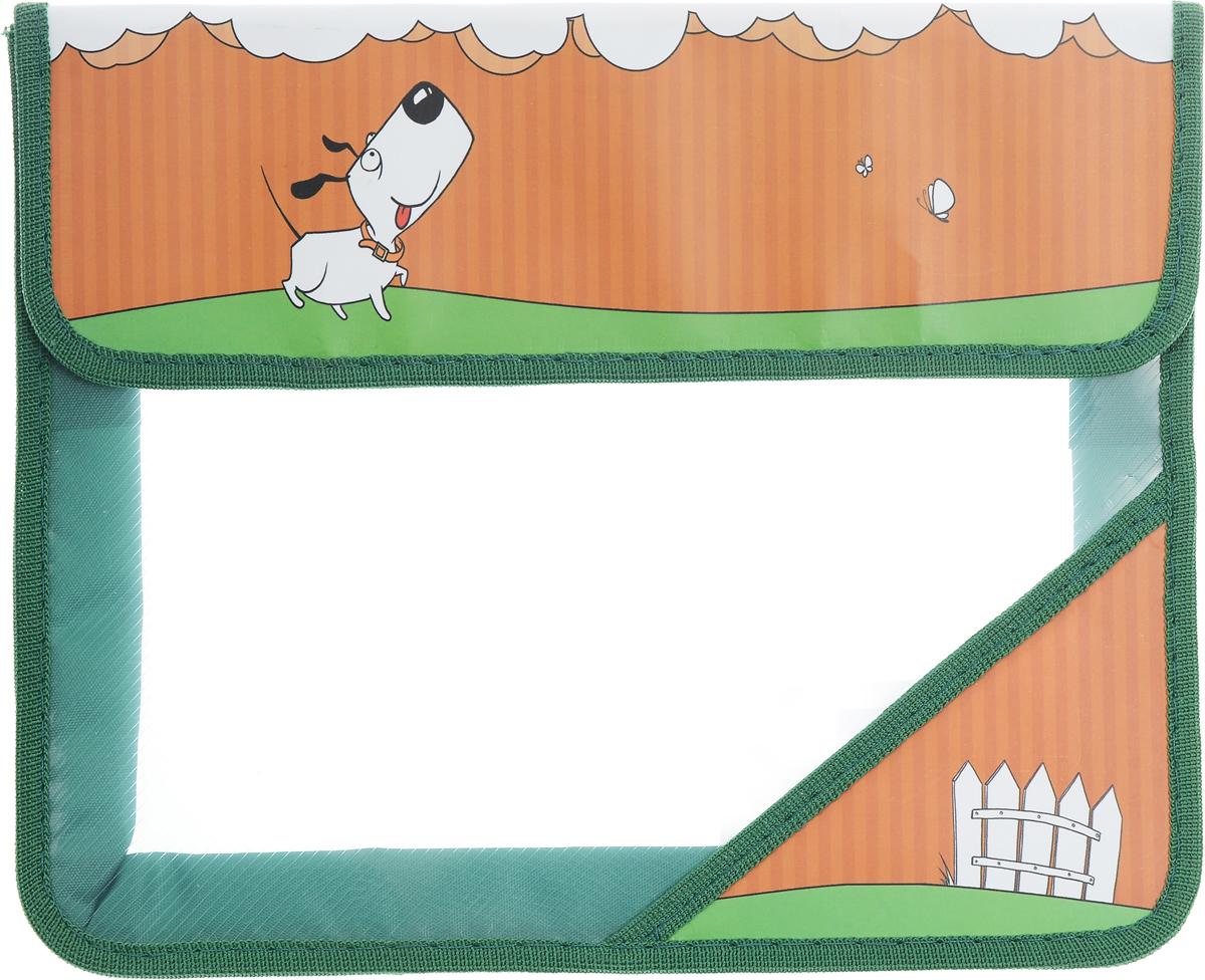 Action! Папка для тетрадей Милашки цвет зеленыйAFA5-11_ зеленыйПапка для тетрадей Action! Милашки - это удобный и функциональный инструмент, который идеально подойдет для хранения различных бумаг формата А5, а также школьных тетрадей и письменных принадлежностей. Лицевая сторона папки оформлена изображением милой собачки. Папка изготовлена из прочного пластика и надежно закрывается на клапан с липучками. Папка состоит из одного отделения. Папка практична в использовании и надежно сохранит ваши бумаги и сбережет их от повреждений, пыли и влаги.
