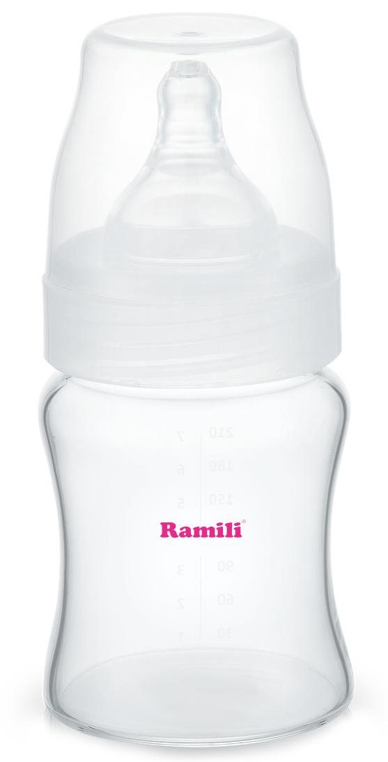 Ramili Бутылочка для кормления от 0 месяцев слабый поток 210 мл