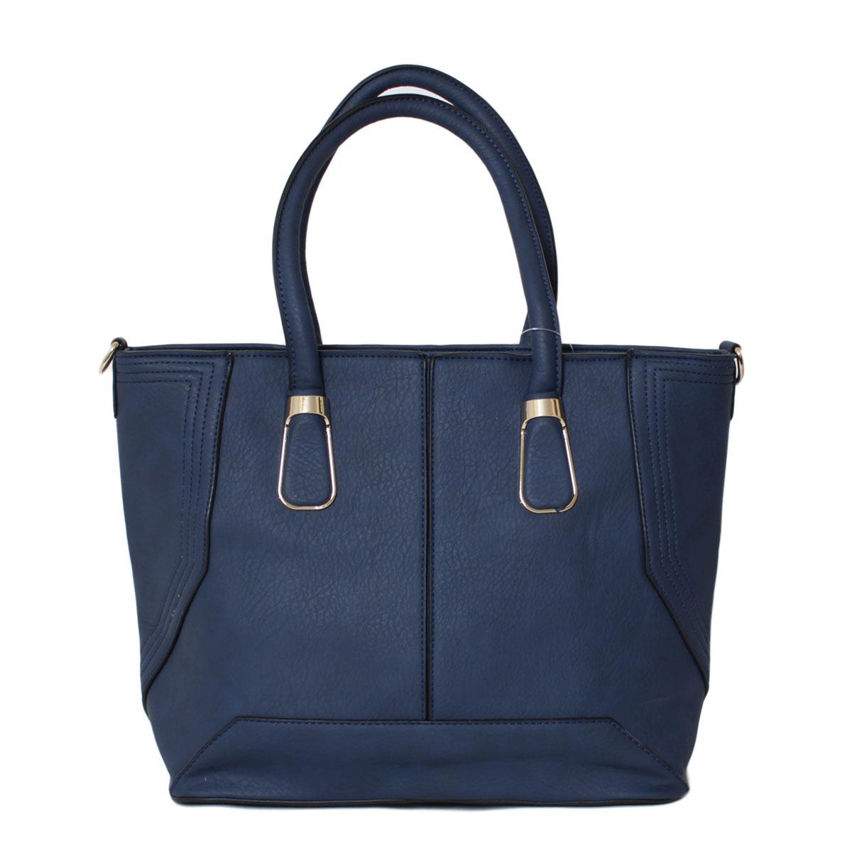 Сумка женская Flioraj, цвет: синий. 0005220900052209Закрывается на молнию. Внутри одно отделение, один карман на молнии, два открытых кармана. Снаружи один карман на молнии. Высота ручек - 21 см.