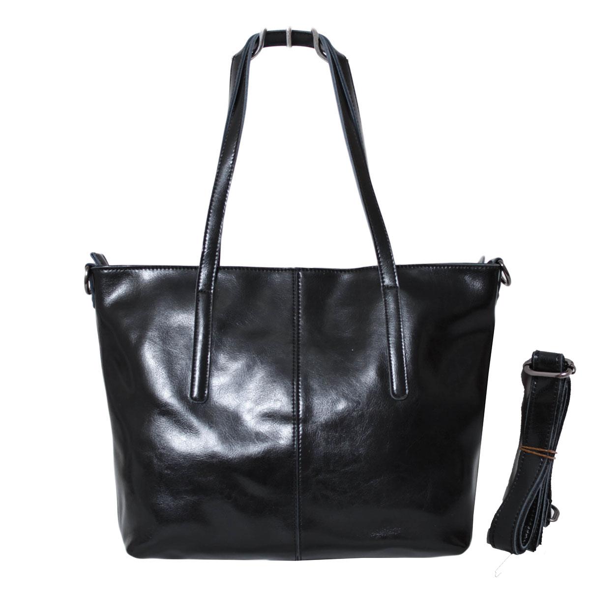 Сумка женская Flioraj, цвет: черный. 0005223400052234Два отделения закрываются на молнии. Два открытых кармана. Длинный ремень.