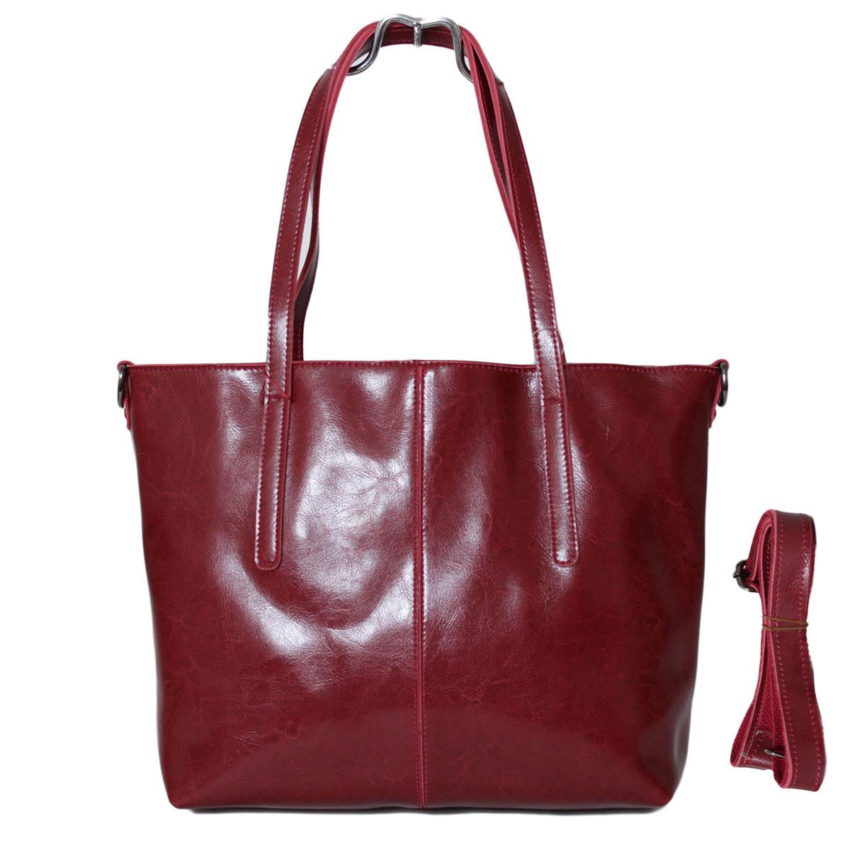 Сумка женская Flioraj, цвет: бордовый. 0005223800052238Два отделения закрываются на молнии. Два открытых кармана. Длинный ремень.