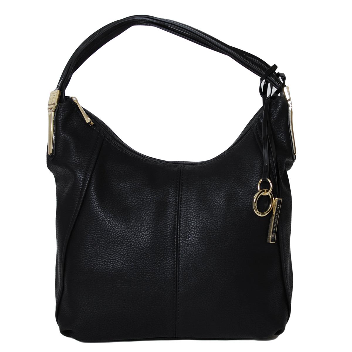Сумка женская Flioraj, цвет: черный. 0005245100052451Закрывается на молнию. Внутри два отделения, один карман на молнии, два открытых кармана. Снаружи один карман на молнии. Высота ручки - 30 см.