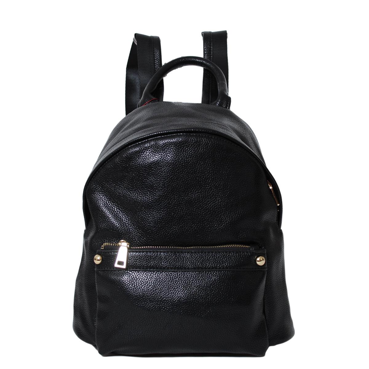Рюкзак женский Flioraj, цвет: черный. 0005245500052455Один карман закрывается на молнии. Внутри одно отделение, один карман на молнии, один открытый карман. Снаружи два кармана на молнии. Высота ручки - 9 см.