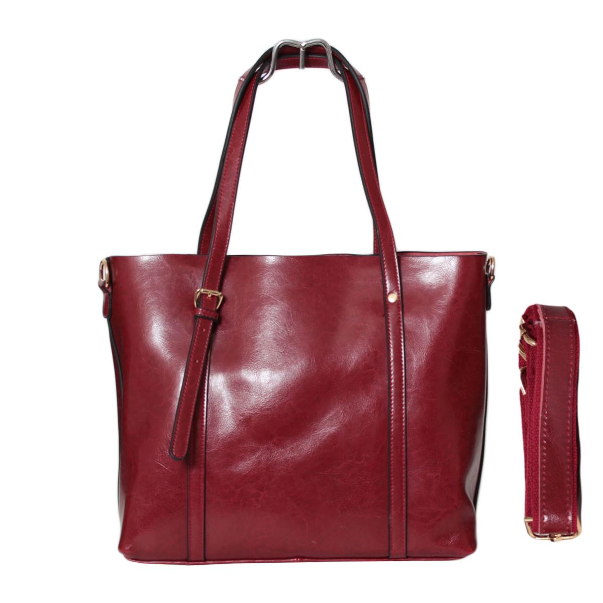 Сумка женская Flioraj, цвет: бордовый. 0005246600052466Закрывается на молнию. Есть боковой открытый карман, внутри два отделения, два открытых кармана и карман на молнии. Высота ручки 20 см.