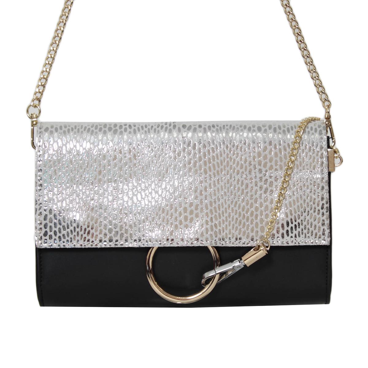 Сумка женская Flioraj, цвет: черный. 0005250600052506Закрывается на декоративный клапан, внутри одно отделение, один карман на молнии и два открытых