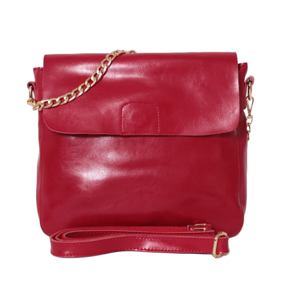 Сумка женская Flioraj, цвет: красный. 0005251200052512Закрывается на молнию. Внутри два отделения, два кармана на молнии, два открытых кармана. Снаружи один карман на молнии. Длинный ремень.