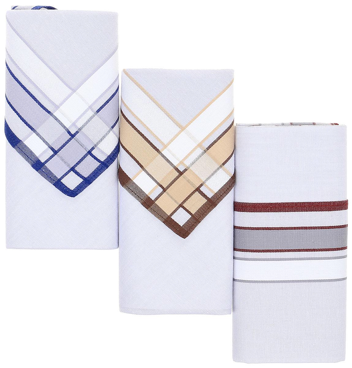 Платок носовой мужской Zlata Korunka, цвет: мультиколор, 3 шт. М54В. Размер 39 х 39 смМ54ВНосовые платки изготовлены из натурального хлопка, приятны в использовании, хорошо стираются, материал не садится и отлично впитывает влагу. В упаковке 3 штуки.