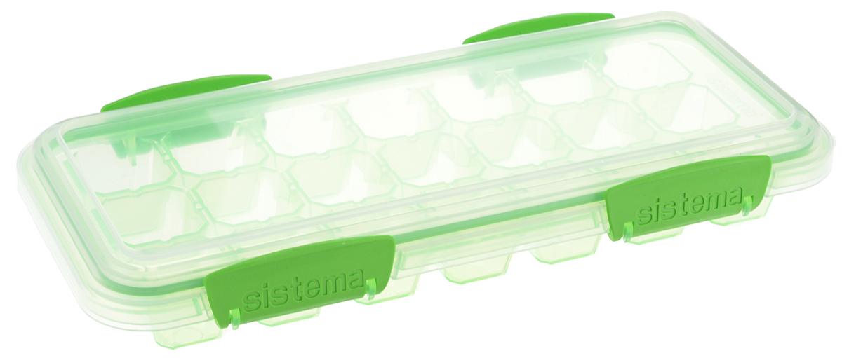 Контейнер для льда Sistema KLIP IT, большой, цвет: салатовый, 21 ячейка61448_салатовыйКонтейнер Sistema KLIP IT предназначен для приготовления 21 кубика льда. Крышка с силиконовой прокладкой герметично закрывается что помогает дольше сохранить полезные свойства продуктов. Контейнер надежно закрывается клипсами, которые при необходимости можно заменить. Размеры контейнера: 27,5 х 12,5 х 4,3 см.