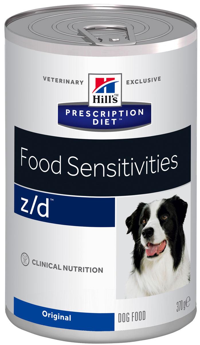Консервы для собак Hills Z/D, диетические, для лечения острых пищевых аллергий, 370 г8018Консервы для собак Hills Prescription Diet - полноценный диетический рацион для снижения непереносимости компонентов пищи у собак. Содержит специально отобранные источники углеводов и высокогидролизованного белка. Ключевые преимущества: - Помогает минимизировать аллергическую реакцию на пищу. Уникальная рецептура с гидролизованным белком обеспечивает безопасное решение для решения проблем с пищевой аллергической реакцией. - Единственный источник протеина - гидролизованный белок курицы. - Способствует питанию кожи и шерсти за счет высокого содержания незаменимых жирных кислот. Рекомендации по кормлению: рекомендуемая продолжительность диетотерапии: 3-8 недель; при исчезновении клинических симптомов непереносимости диету можно применять без временных ограничений. Состав: гидролизат куриной печени, кукурузный крахмал, целлюлоза, растительное масло, минералы, DL- метионин, таурин, L-треонин, L-триптофан, витамины...