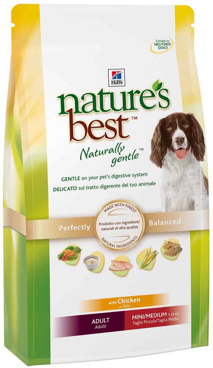 Корм сухой Hills Natures Best для собак мелких и средних пород, с курицей и овощами, 12 кг5596Рацион Hills Natures Best специально разработан для удовлетворения пищевых потребностей взрослых собак старше 1 года мелких и средних пород. Изготовлен из превосходных ингредиентов, помогает поддерживать здоровое пищеварение и сильный иммунитет у вашего питомца и обеспечивает полноценное, точно сбалансированное питание для того, чтобы ваша собака всегда оставалась здоровой и активной. Ключевые преимущества: Оказывает мягкое действие на пищеварительную систему. Изготовлен из превосходных натуральных ингредиентов. Точный баланс питательных веществ. Не содержит искусственных красителей, ароматизаторов и консервантов. Эффективный комплекс антиоксидантов для иммунной системы. Содержит Омега-3 и Омега-6 жирные кислоты для здоровой кожи и сияющей шерсти. Без добавления ингредиентов, которые могут вызывать расстройства ЖКТ и заболевания кожи. Состав: кукуруза, мука из мяса курицы и индейки, мука из кукурузного глютена, животный...