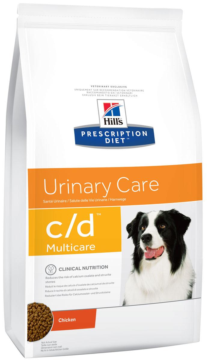 Корм сухой диетический Hills C/D для собак, профилактика МКБ и струвитов, 2 кг8654Сухой корм для собак Hills C/D - полноценный диетический рацион для собак при урологическом синдроме (для снижения вероятности рецидивов струвитного уролитиаза). Рацион обладает закисляющими мочу свойствами и содержит умеренный уровень магния. Изменяет состав мочи для профилактики образования струвитных кристаллов и уролитов в мочевыводящих путях собаки. - Превосходный вкус понравится вашей собаке. - Супер антиоксидантная формула повышает устойчивость клеток организма к воздействию свободных радикалов. Монодиета. Не требует дополнений. Рекомендации по кормлению: суточная норма кормления указана на упаковке и должна быть рассчитана в соответствии с размером животного, чтобы поддерживать оптимальный вес. Суточную норму можно разделить на 2 и более кормлений в день. Рекомендуемая продолжительность диетотерапии: до 6 месяцев. Обеспечьте питомца постоянным свободным доступом к свежей воде. Состав: зерновые злаки, мясо и пептиды животного...