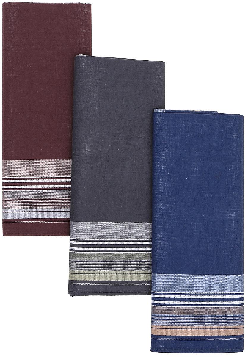 Платок носовой мужской Zlata Korunka, цвет: мультиколор, 3 шт. М38А. Размер 42 х 42 смМ38АНосовые платки изготовлены из натурального хлопка, приятны в использовании, хорошо стираются, материал не садится и отлично впитывает влагу. В упаковке 3 штуки.