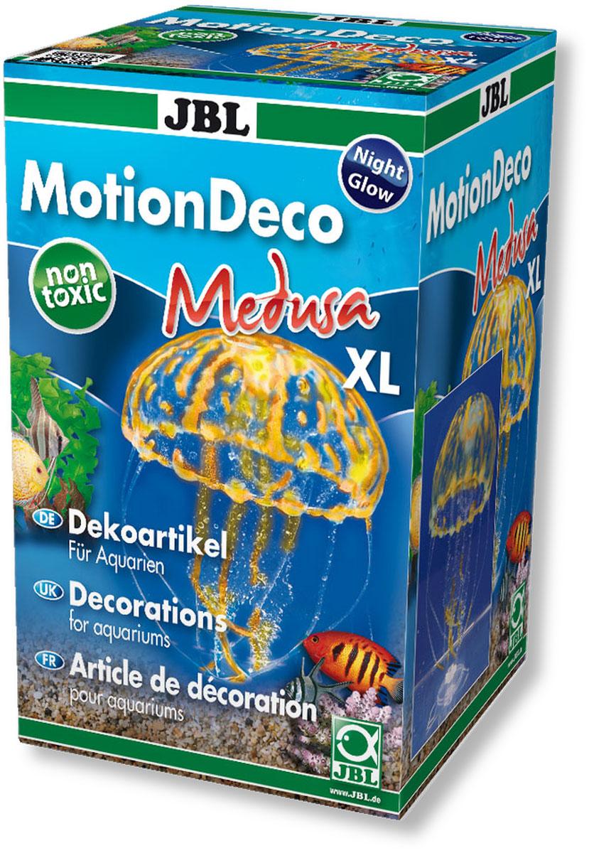 Декорация для аквариума JBL Медуза XL, цвет: оранжевый, 9,5 х 9,5 х 21 смJBL6045400Декорация JBL Медуза XL, выполненная из высококачественного силикона, станет оригинальным украшением для вашего аквариума. Изделие отличается реалистичным исполнением, в воде создается имитация настоящей медузы. Декорация абсолютно безопасна, нейтральна к водному балансу, устойчива к истиранию краски, не токсична, подходит как для пресноводного, так и для морского аквариума. Крепится при помощи присоски. Такая декорация наиболее подвижна в постоянном потоке воды. Для красивого светящегося эффекта рекомендуется использование актинического освещения. Декорация JBL Медуза XL станет оригинальным украшением для внесения загадочности в интерьер вашего аквариума.
