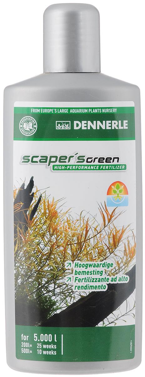 Удобрение для аквариумных растений Dennerle Scapers Green, 500 млDEN4532Удобрение для аквариумных растений Dennerle Scapers Green разработано специально для акваскейпинга. Удобрение идеально подходит для аквариумов с сильным освещением и большим количеством растений, а также для аквариумов с незначительным количеством рыб. Содержит все важные питательные вещества и минералы. Способствует образованию свежей ярко-зеленой листвы. Предотвращает появление желтых полупрозрачных листьев. Усиливает окраску красных и красно-коричневых листьев. Не содержит фосфаты и нитраты. Дозировка: еженедельно 10 мл (1/3 крышечки) на 100 л аквариумной воды.