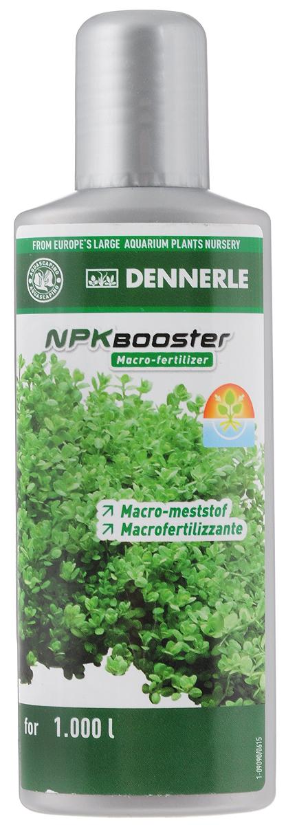Удобрение для аквариумных растений Dennerle NPK Booster, с комплексом макроэлементов, 100 млDEN4533Удобрение для аквариумных растений Dennerle NPK Booster разработано специально для акваскейпинга. Удобрение идеально подходит для аквариумов с сильным освещением и большим количеством растений, а также для аквариумов с незначительным количеством рыб. Содержит необходимый аквариумным растениям нитрат, фосфат и калий в сбалансированном соотношении. Эффективно предотвращает нехватку макроудобрений, помогает при проявлении симптомов нехватки питательных веществ. Способствует образованию свежей ярко-зеленой листвы. Предотвращает появление желтых полупрозрачных листьев. Дозировка: еженедельно 10 мл (1 полная крышечка) на 100 л аквариумной воды.