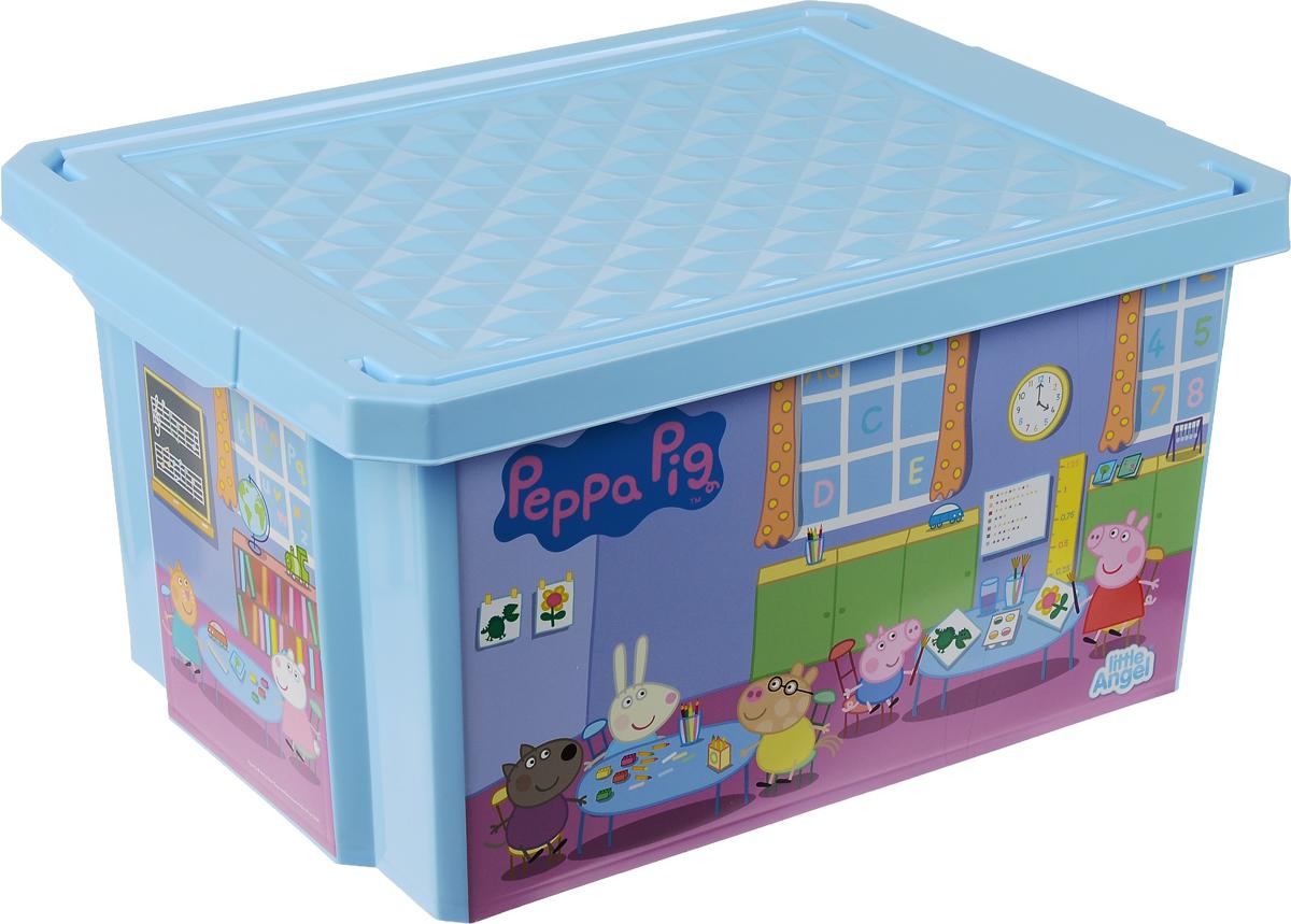 Коробка для хранения Little Angel Peppa Pig, цвет: голубой, 40 х 30 х 21 смLA0023РРГЛ_голубойКоробка для хранения Little Angel Peppa Pig, выполненная из высококачественного пластика, идеально подойдет для хранения игрушек, канцелярских принадлежностей и других мелких предметов. Изделие украшено ярким изображением известного персонажа мультфильмов. Коробка оснащена крышкой. Декоративная коробка поможет хранить все в одном месте, а также защитить вещи от пыли, грязи и влаги. Размер коробки: 40 х 30 х 21 см.