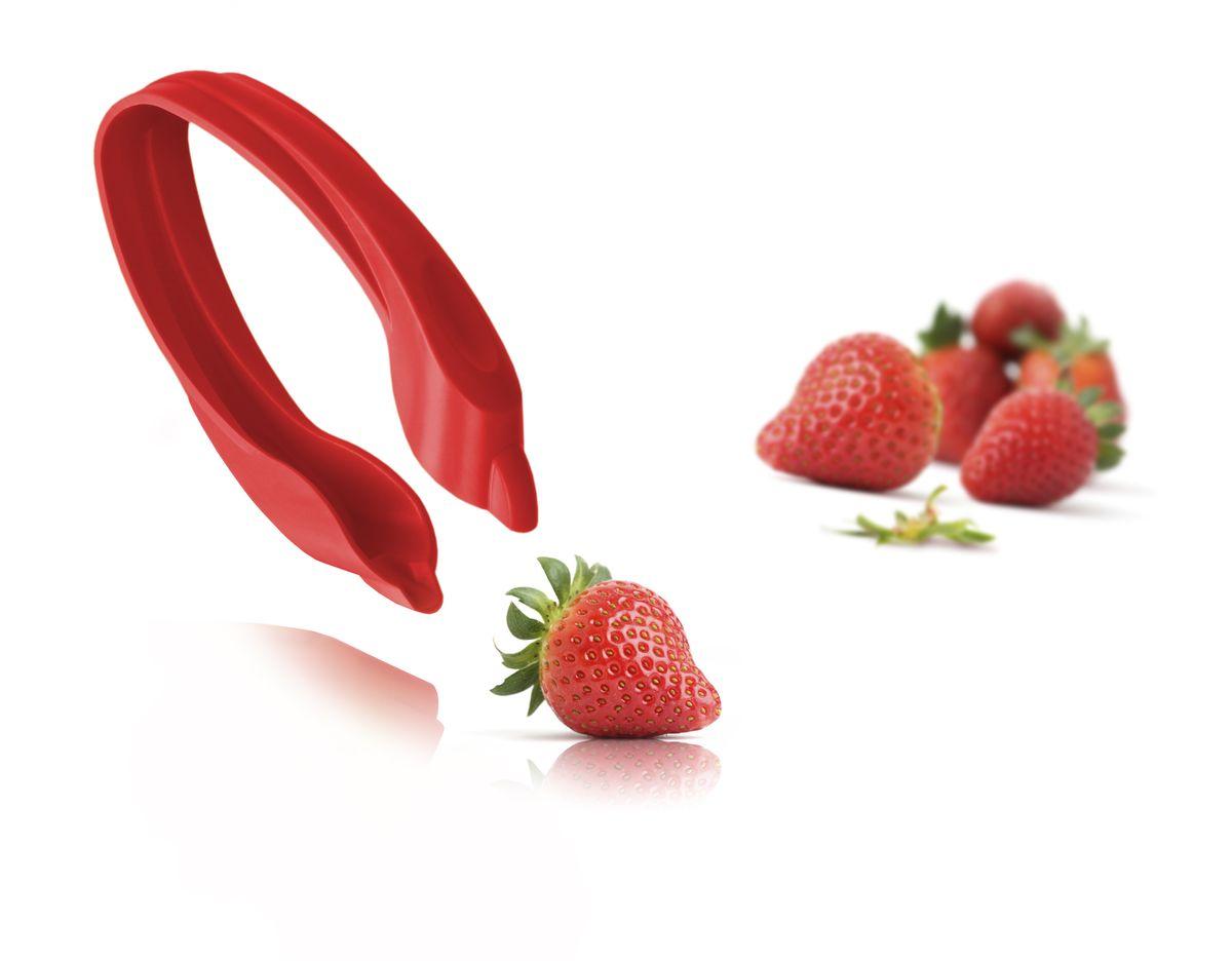 Устройство для удаления листиков у ягод VacuVin Strawberry Huller, цвет: красный47581606Щипчики для клубники Tomorrows Kitchen легко удалят с ягод листики и плодоножки всего за несколько секунд. Гибкие щипчики не имеют острых граней и могут использоваться даже детьми. Удаляя листики и плодоножки, щипчики для клубники не повреждают сами ягоды. •Удаляют листики и плодоножки