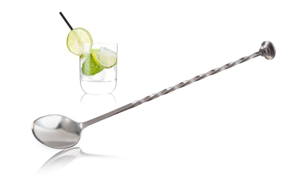 Барная ложка VacuVin78623606С барной ложкой VacuVin вы можете легко помешивать свой коктейль или создавать особые слоистые коктейли. Благодаря длиной ручке ложка достигает дна, поэтому может использоваться для любого Лонг дринк. •Можно мыть в посудомоечной машине •Специально спроектированы для высоких коктейльных стаканов •Используется для перемешивания •Позволяет создавать слоистые коктейли