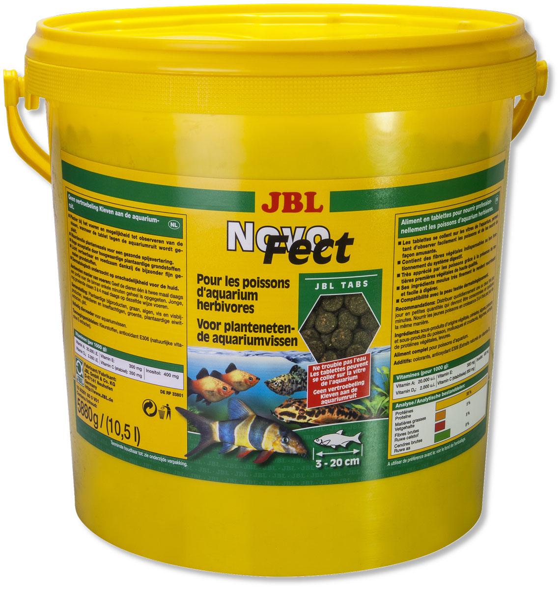Корм JBL NovoFect, для растительноядных рыб, в таблетках, 5,88 кг (10,5 л)JBL3026100Корм JBL NovoFect содержит все компоненты в специально сбалансированной смеси с высоким содержанием растительных веществ, которые отвечают потребностям донных рыб и рыб, обитающих в средней зоне, питающихся преимущественно растительной пищей. Прикрепив таблетку в любом месте к стеклу аквариума, вы обеспечите рыб, обитающих в средних слоях воды, кормом и можете наблюдать за ними в процессе поедания корма. Просто опустив таблетку на дно аквариума, вы обеспечите кормом сомов и других донных рыб. Состав: зерновые, водоросли, рыба и рыбные побочные продукты, моллюски и ракообразные, овощи, экстракт растительного белка. Анализ: протеин 35%, жир 5%, клетчатка 5%, чистая зола 8%. Товар сертифицирован.