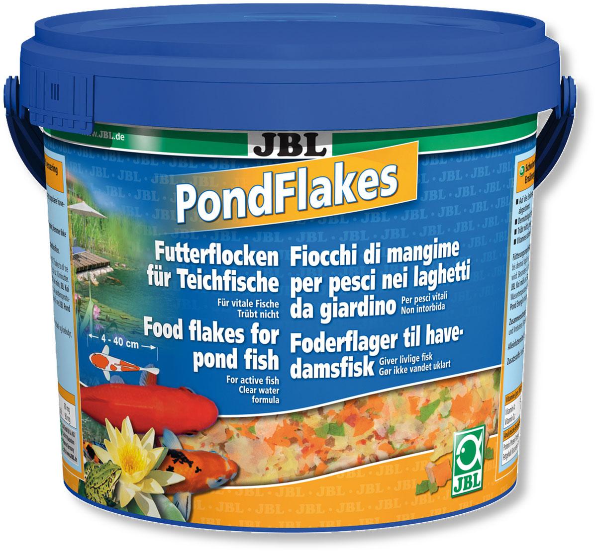 Корм JBL Pond Flakes для прудовых рыб, в форме хлопьев, 770 г (5,5 л)JBL4019700Основной корм JBL Pond Flakes предназначен для всех прудовых рыб от 4 до 40 см в длину. Смесь различных высокоценных и легкоусваиваемых хлопьев, которая составлена с учетом питательных потребностей большинства рыб, обитающих в садовом пруду, в теплое время года. Корм содержит все необходимые компоненты полноценного питания, такие как белок, углеводы, пищевые волокна, и жир в сбалансированном соотношении. Плавающие хлопья охотно поглощаются рыбами всех размеров. Жизненно важные витамины укрепляют иммунитет. Рекомендации по кормлению: в теплое время года 1-2 раза в день столько корма, сколько может быть съедено в течении 10 минут. Состав: рыба и рыбные побочные продукты, растительные побочные продукты, овощи, злаки, моллюски и ракообразные. Анализ: белок - 12%, жир - 2%, клетчатка - 1%, зола - 1,5%. Содержание витаминов на 1 кг: Витамин А 14000 IE, Витамин D3 900 IE, Витамин Е 80 мг, Витамин С 90 мг. Товар...