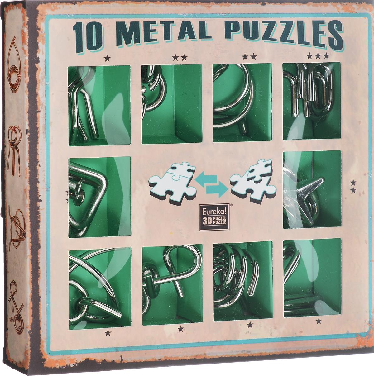 Eureka! Набор головоломок цвет зеленый 10 шт