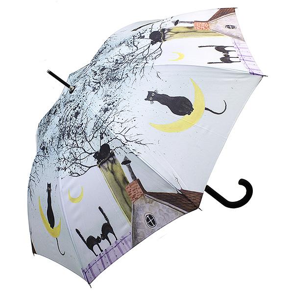Зонт женский Эврика, цвет: . 9750097500Изображение кошки издавна считается талисманом, приносящим счастье обладателю, поэтому большой полуавтоматический зонт с орнаментом из усатых-полосатых станет отличным подарком всем, кто не равнодушен к семейству кошачих. Качественный материал купола с влагоотталкивающей пропиткой спасёт от ливня, а крепкие спицы не поддадутся упрямому ветру.