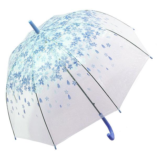 Зонт женский Эврика, цвет: голубой, прозрачный. 9750497504Зонт-трость Эврика выполнен из прозрачного полиэтилена и оформлен цветочным принтом. Благодаря своему изяществу и утонченности орнамента он способен украсить даже самый пасмурный день. Лёгкий, практичный зонт-полуавтомат послужит верным спутником дамы, желающей выглядеть стильно в любую погоду.