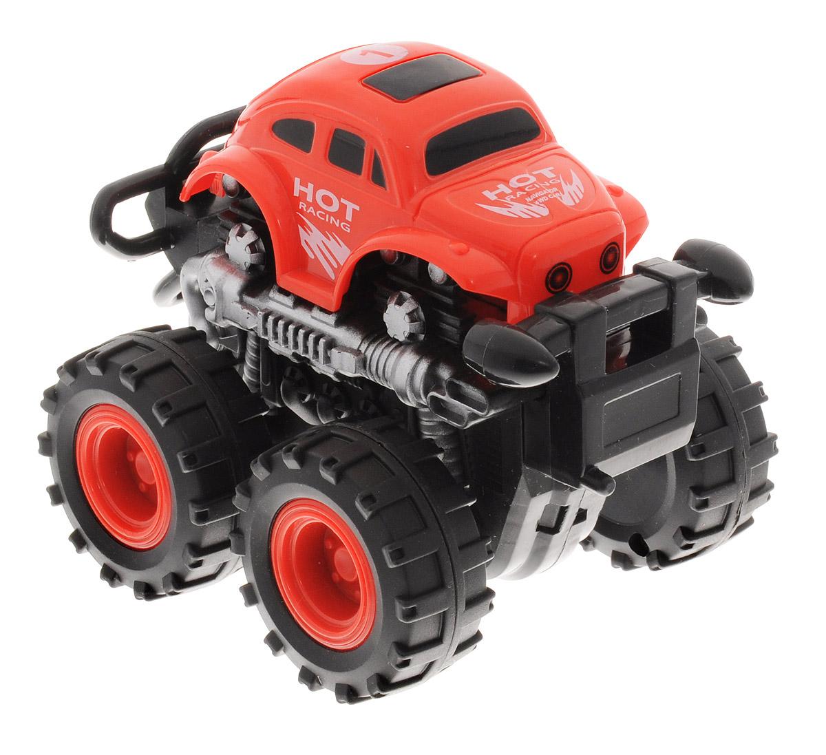 Big Motors Машинка инерционная 4WD цвет красный806B_красныйИнерционная машинка Big Motors 4WD станет любимой игрушкой вашего малыша. Игрушка представляет собой внедорожник с огромными колесами. Машинка оснащена инерционным механизмом. Достаточно немного подтолкнуть машинку вперед или назад, а затем отпустить, и она сама поедет в ту же сторону. Ваш ребенок будет часами играть с этой машинкой, придумывая различные истории. Порадуйте его таким замечательным подарком!