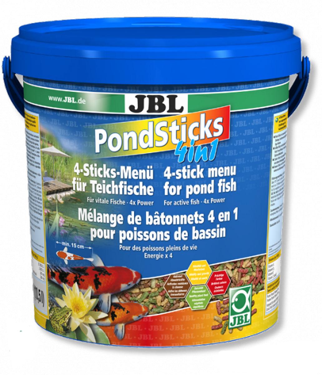 Корм JBL Pond Sticks 4in1 для всех прудовых рыб, в форме палочек, 1,68 кг (10,5 л)JBL4014700Корм JBL Pond Sticks 4in1 - это комплексное питание для всех прудовых рыб. Корм выполнен в виде палочек разного цвета: - красные - с каратиноидами и креветками для яркого окраса; - желтые - содержат зародыши пшеницы для энергии и роста; - черные - содержат B-глюкан, активирующий иммунитет; - зеленые - растительные, со специальными ингредиентами. Корм подходит для всех прудовых рыб размером от 15 см. Рекомендации по кормлению: при температуре воды 10° С кормить 1-2 раза в день в таком объеме, который может быть съеден в течение 10 минут. Состав: злаки, моллюски и ракообразные, овощи, водоросли, рыба и рыбные побочные продукты. Анализ: белки - 25%, жир - 4,5%, клетчатка - 4%, зола - 9%. Содержание витаминов на 1 кг: Витамин А 25000 I.E., Витамин D3 2000 I.E., Витамин Е 300 мг, Витамин C (стабильный) 200 мг. Товар сертифицирован.